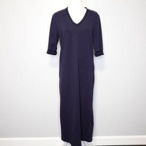 Lauren Ralph Lauren Navy Blue Maxi Sweater Dress